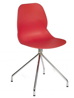 Red Seat Chrome Pyramid Frame