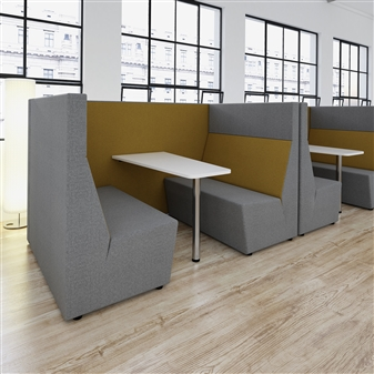 Four Seater High Back Booth With White Table