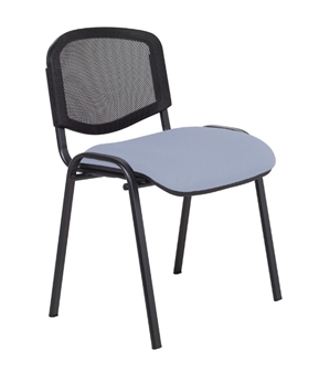 F1B Mesh Back Stacking Chair With Black Frame - Vinyl
