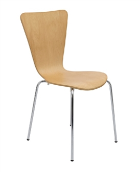 Contract Cafe / Bistro Chair In Beech