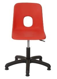 Swivel Chair Shown In Red But only Available in Charcoal & Blue