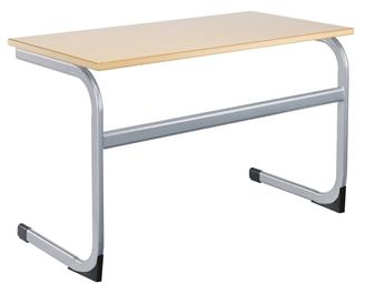Double Cantilever Classroom Desk MDF Edge