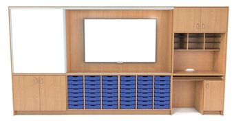 Teacher Storage Wall - 4 Metres Wide