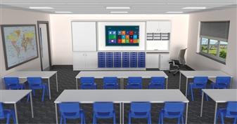 Teacher Storage Wall