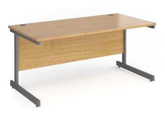 Contract C-Frame Rectangular Desk - 1600mm - OAK