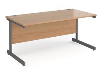 Contract C-Frame Rectangular Desk - 1600mm - BEECH