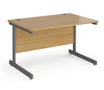 Contract C-Frame Rectangular Desk - 1200mm - OAK
