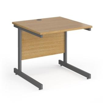 Contract C-Frame Rectangular Desk - 800mm - OAK