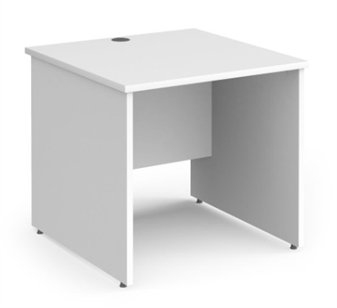 800mm Contract Panel End Rectangular Desk - WHITE