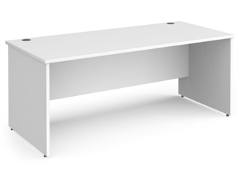 1800mm Contract Panel End Rectangular Desk - WHITE