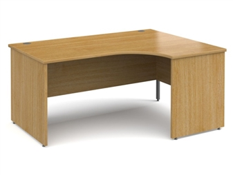 1600mm Contract Panel End Radial Desk - Right Hand - OAK
