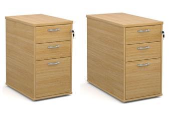 600mm Deep & 800mm Deep Desk-High Pedestals - OAK
