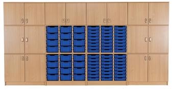 Tray & Cupboard Storage Wall