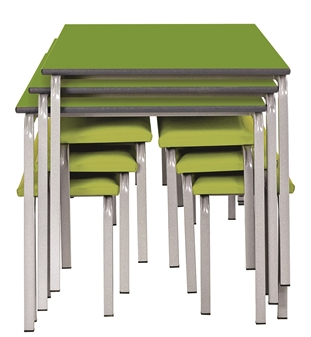 3 Tables & 6 Benches Can Stack Away When Not In Use