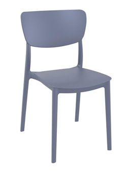 Monsa Stacking Chair - Dark Grey