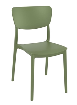 Monsa Stacking Chair - Olive Green
