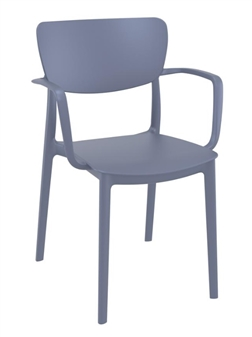 Monsa Stacking Armchair - Dark Grey