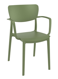Monsa Stacking Armchair - Olive Green