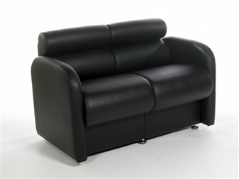 DOLFIN/2 2-Seater Dolfin Reception Sofa Unit - Vinyl