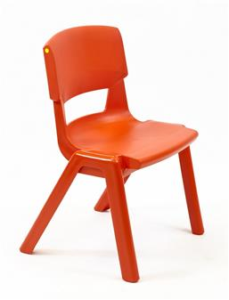Postura Plus One-Piece Classroom Chair - Poppy Red