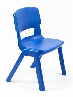 Postura Plus One-Piece Classroom Chair - Ink Blue