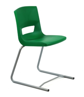 Postura Plus Reverse Cantilever Chair - Forest Green
