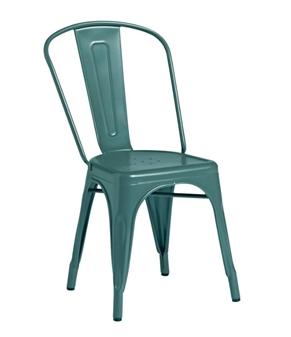 Piero Metal Bistro Chair - Blue