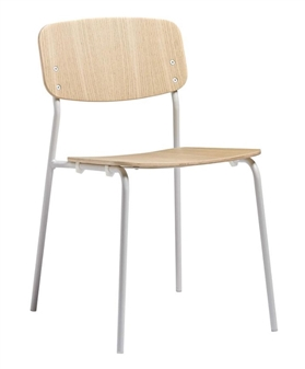 Anton Side Chair - Clear Ash With White Frame