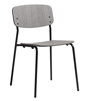 Anton Side Chair - Grey Ash With Black Frame