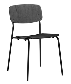 Anton Side Chair - Black Ash With Black Frame