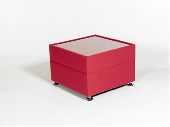 DOLFIN Reception Coffee Table With Glass Top - Vinyl