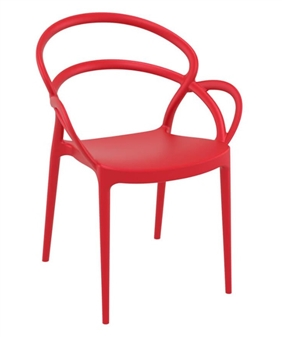Mila Armchair - Red