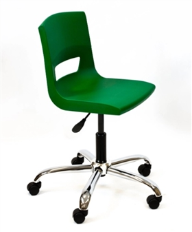 Postura Plus Task Chair - Chrome Base + Castors