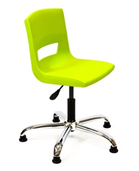 Postura Plus Task Chair - Chrome Base + Glides
