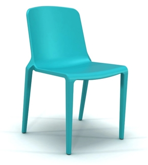 Rix One Piece Stacking Chair - Aqua Blue