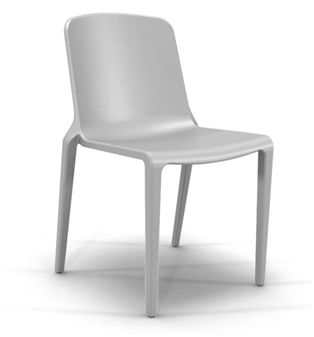 Rix One Piece Stacking Chair - Ash Grey