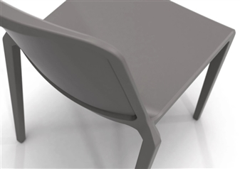 Rix One Piece Stacking Chair - Iron Grey