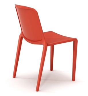 Rix One Piece Stacking Chair - Poppy Red