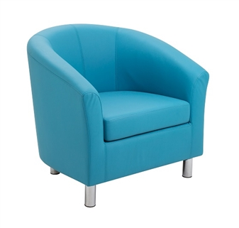 Junior Tub Chair - Aqua Blue