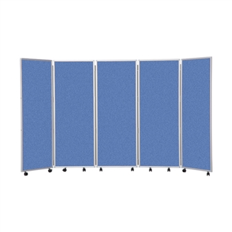 5 Panel Mobile Folding Convertina Room Divider