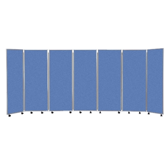 7 Panel Mobile Folding Convertina Room Divider