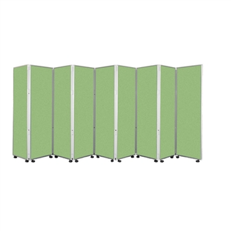9 Panel Mobile Folding Convertina Room Divider