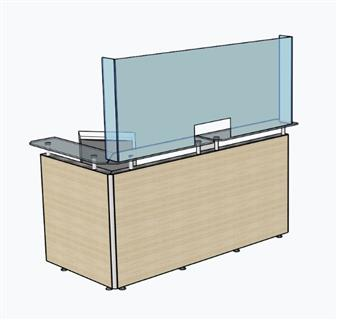 Deskshield Freestanding Acrylic Screen For Reception Counter