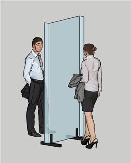 Deskshield Full Height Acrylic Protection Barrier