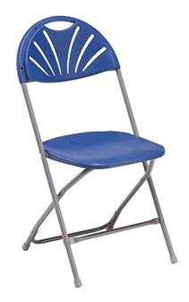 Fan Back Chair Blue