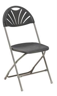 Fan Back Chair Charcoal