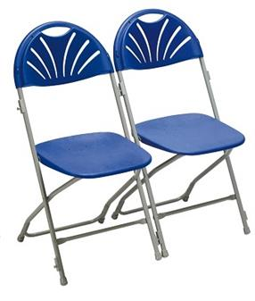 Fan Back Chair Charcoal Linking