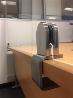 2 x C-Clamps In Stainless Steel