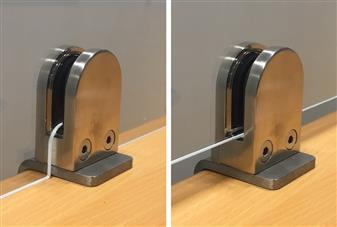 Optional Cut Out Notches To Allow Screen To Sit Flush On Top Of Desk & No Gap