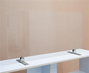 Excel Clear Plastic Screens - Freestanding On Metal Feet